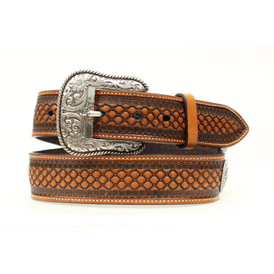 Ariat Men's Basket-weave Textured Belt, Tan