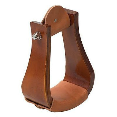 Weaver Leather Sloped Stirrup Wooden Roper with Leather