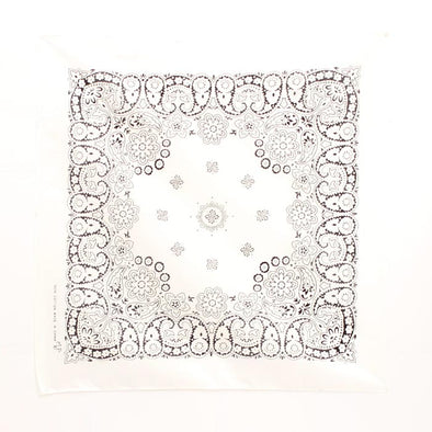 Bandanas Traditional 21x21 White/Black