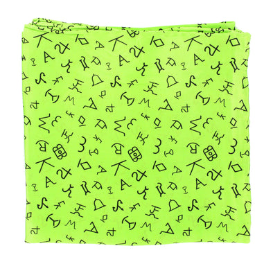 Wild Rag Branded Patterned 33x33 Lime Green