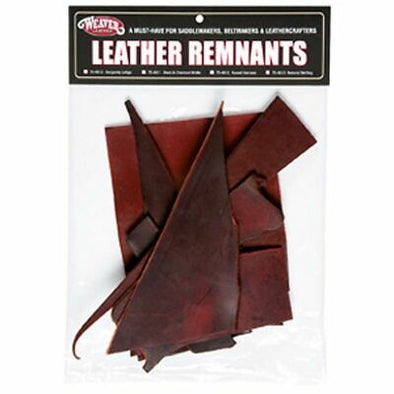 Weaver Leather Remnant Bag, Latigo Leather, 1lb. - Burgundy