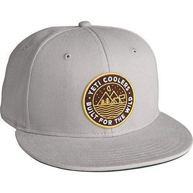 Outdoor Badge Gray Flat Brim Hat