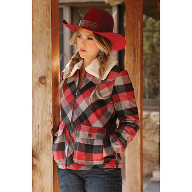Cruel Girl Womens Plaid Tweed Coat