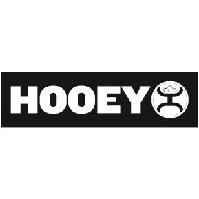 "Hooey Lock-up Black/White 9.25"" by 2.5"" Bumper Sticker"