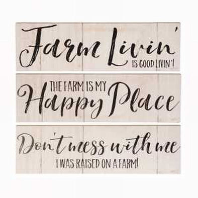 Farm Livin Wall Sign Assorted