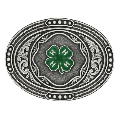 Montana Silversmiths 4-H Cable Track Attitude Belt Buckle