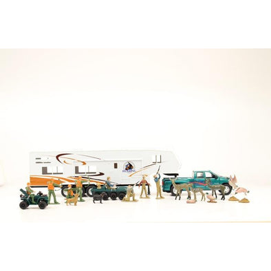 Bigtime Hunter 5th Wheel Camper Toy Set