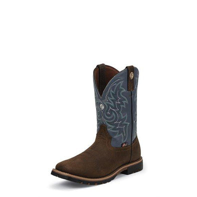 Justin Men's George Strait Fireman Western Boot - Blue