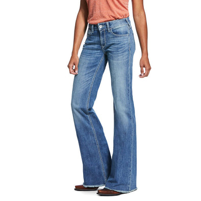 Ariat Women's Trouser Perfect Rise Stretch Ella Wide Leg Jean