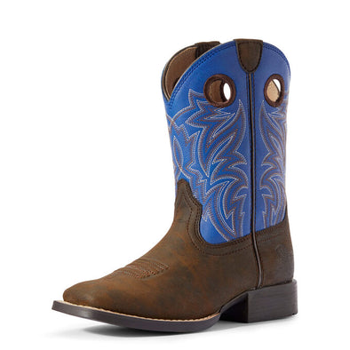 Ariat Youth Catchem Dark Chocolate/Clould Blue Boots