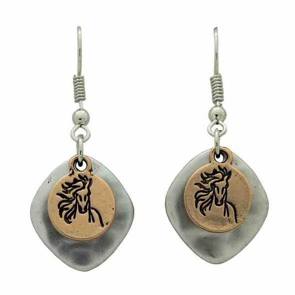 KC Earrings Horse