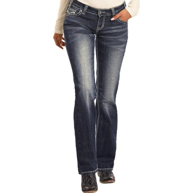Rock & Roll Juniors Riding Boot Cut Jeans
