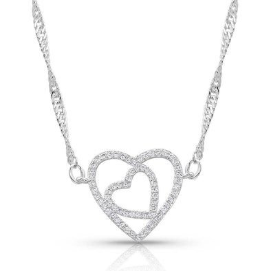 Montana Silversmith Double Open Heart Split Necklace
