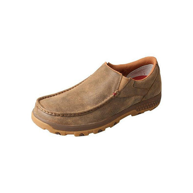 Twisted X Men's Slip On Driving Moccasin with Cell Stretch