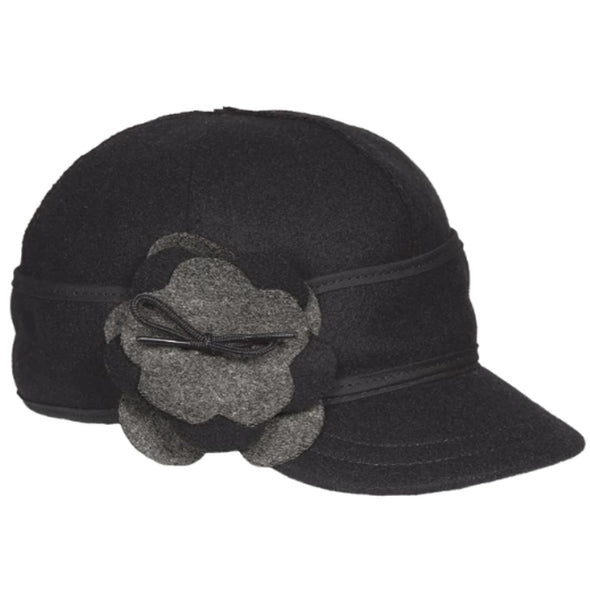 The Petal Pusher Cap Size 6 5/8 Black/Charcoal