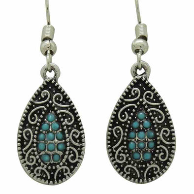 KC Earrings Turquoise Chip