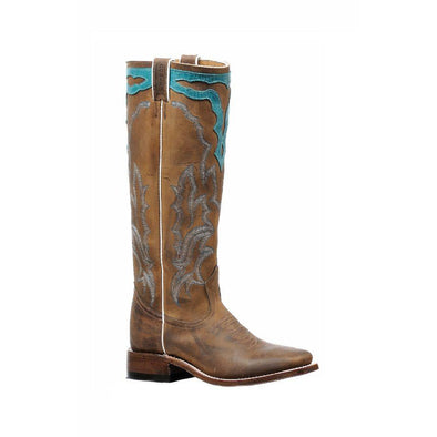Boulet Women's Cowboy Boot - Hillbilly Golden/West Turquesa