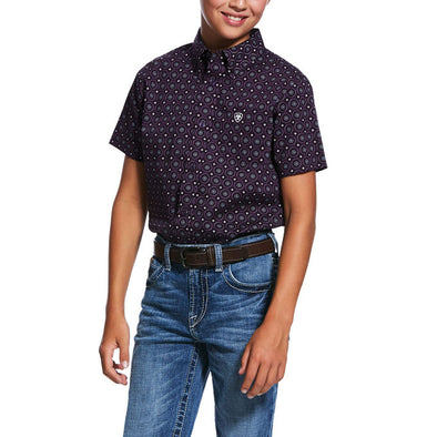 Ariat Boy's Redland Print Classic Fit Shirt