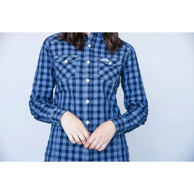 Kimes Ranch Ladies Silver Dollar Top - Plaid Indigo