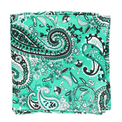 Wild Rag Paisley Patterned  33x33 Forest Green