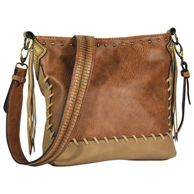 Justin Crossbody Chestnut w/Whip Stitch