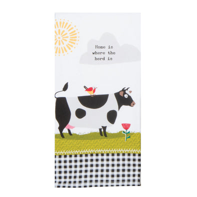 KD Farm Charm Cow Dual Purpose Terry Towel