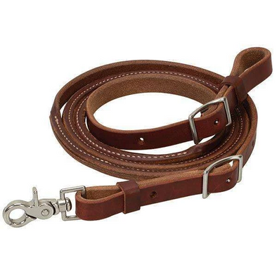 Weaver Leather Oiled Canyon Rose Heavy Harness Leather Round Roper Rein