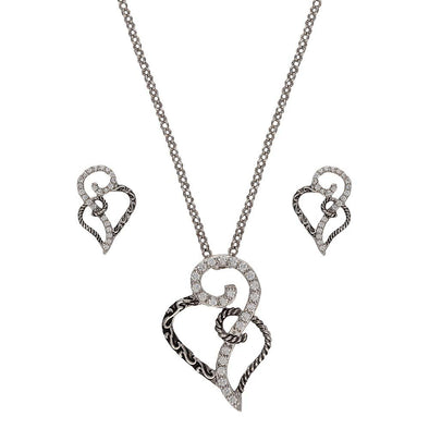 Montana Silversmiths Woven Hearts Jewelry Set