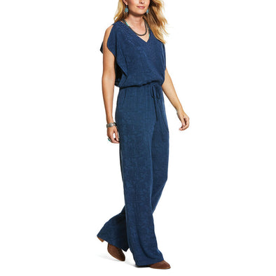Ariat Women's Why Not Romper Blue Velvet