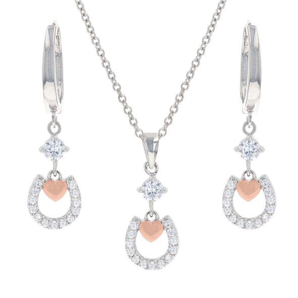Montana Silversmith Hoofprints On My Hearts Jewelry Set