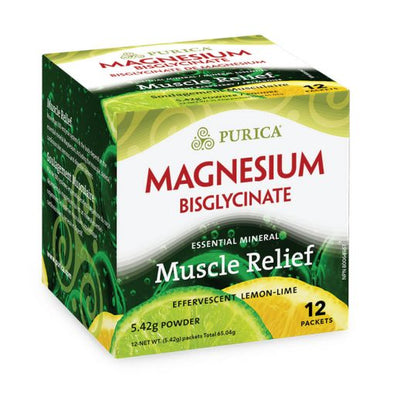 Purica  Magnesium Bisglycinate Lemon Lime  12 Pack
