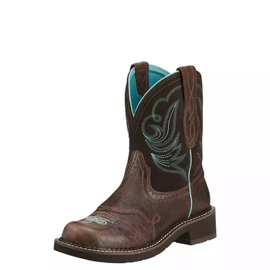Ariat Women's Fatbaby Heritage Dapper Western Boot - Royal Chocolate/Fudge