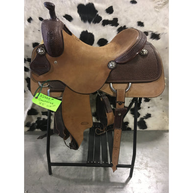 "Irvine 16.5"" Custom Cowhorse Saddle"