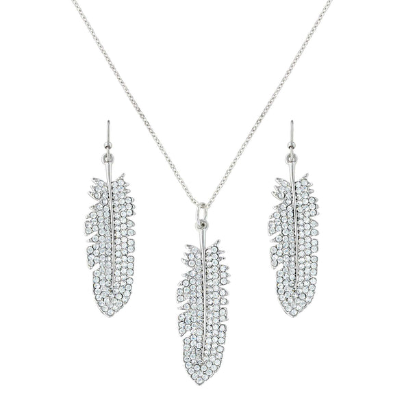 Montana Silversmiths Shimmering Feather Jewelry Set