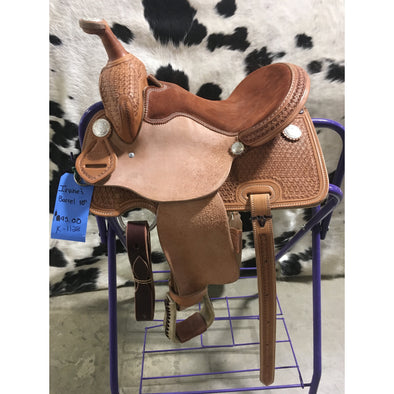 "Irvine 10"" Kids Barrel Saddle"