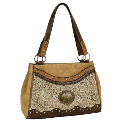Justin SM Tote Tonal w/Light Tan Lace