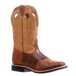 Boulet Men's Cowboy Boot - Tan/Brown - Irvines Saddles