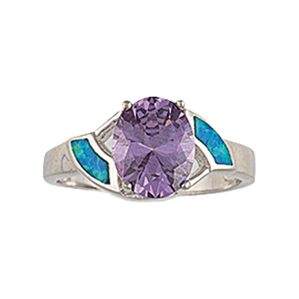 Montana Silversmiths River Lights Amethyst Pool Ring