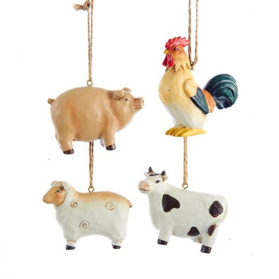 "2"" Farm Animal Ornament"