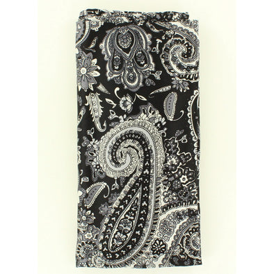 Wild Rag Large Paisley Patterned 42x42 Black