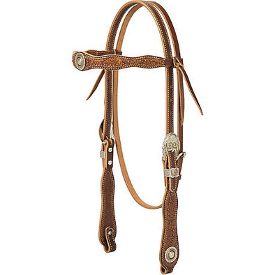 Weaver Leather Western Edge Browband Headstall, 5/8""