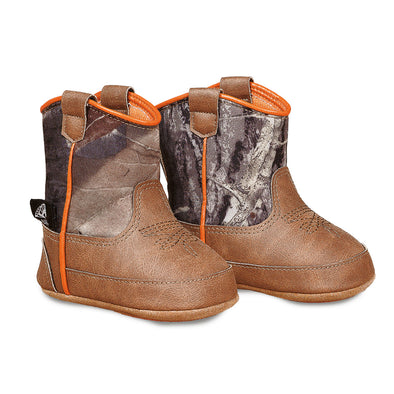 Double Barrel Gunner Baby Bucker Boots - Brown with Camo Top