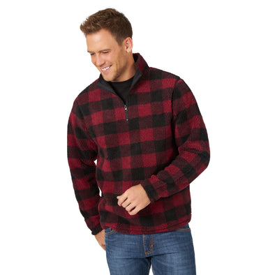 Wrangler Mens Fleece 1/4 Zipper Pullover