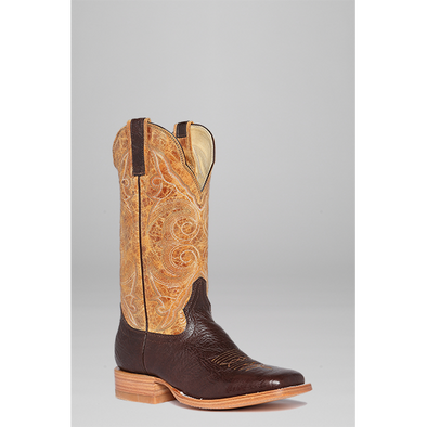 Hondo Men's Cowboy Boot - Brown Shoulder/Oryx Crater - Irvines Saddles