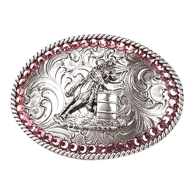 Blazin Roxx Girls Buckle Oval - Barrel Racer