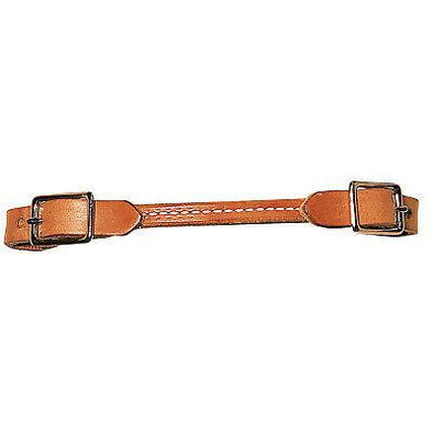 Weaver Leather Harness Leather Rounded Curb Strap Nickel Plated Hardware - Russet