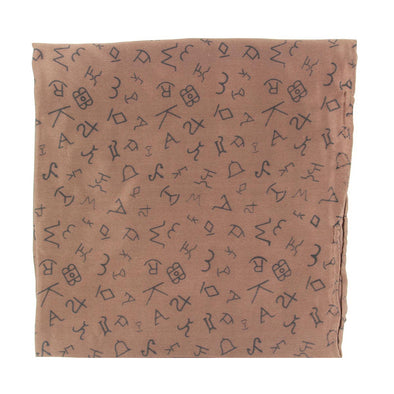 Wild Rag Branded Patterned 33x33 Brown