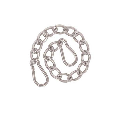 Weaver Leather Curb Chain with Safety Spring Snaps 9-1/2""