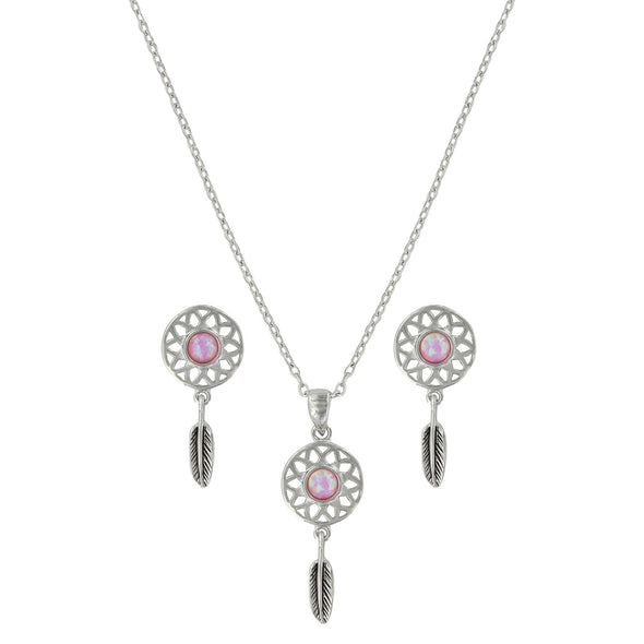 Montana Silversmiths Dreaming in Pink Opal Jewelry Set