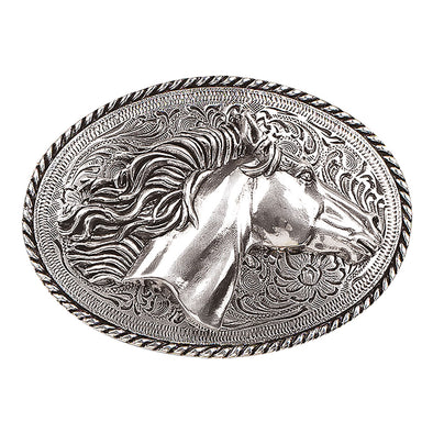 Blazin Roxx Oval Buckle - Horse Head